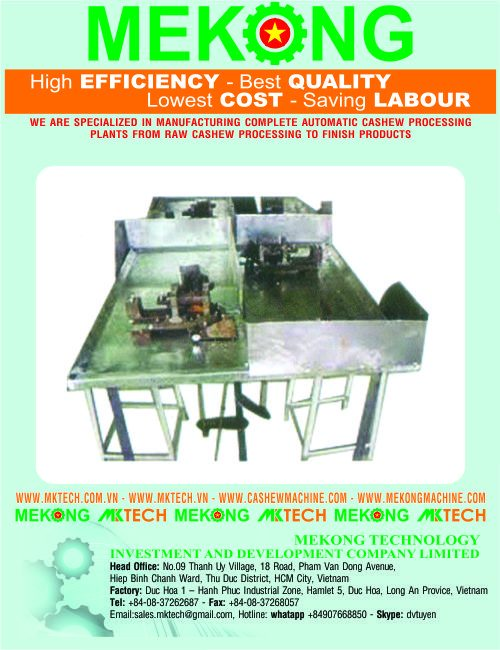 manual cashew nut shelling machine